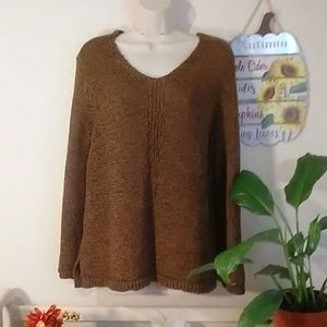Chico's knitted sweater. size 2. Color Bronze